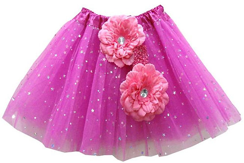 TW125FU Girls' Star Tutu with Head Band