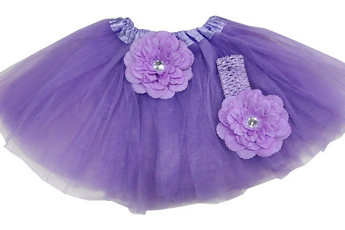 TP15B Infant'  Tutu with Head Band and Flower