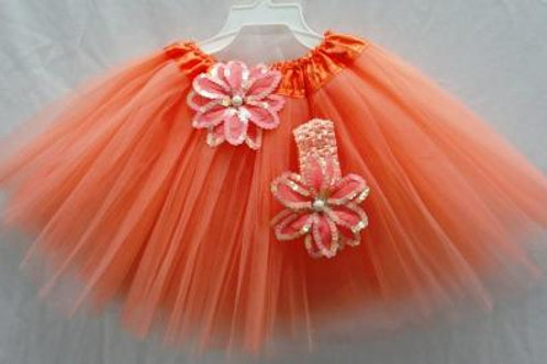 T208 Girls' Tutu with Head Band