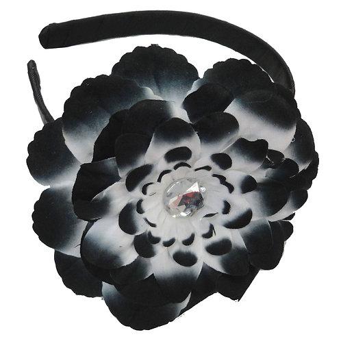 T343 - 6 Pieces - Girl Satin Rosette Adjustable Headband