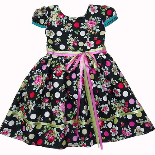 67-197 Girls'  Printed Floral Dress