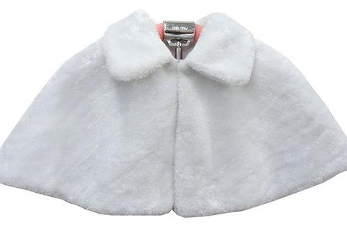66-01 White Fur Cape