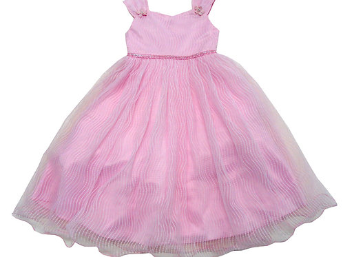 84-612X Girls' (4-6X) Tulle  Embroidered  Dress