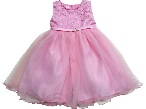 74-471X Girls' (4-6X) Tulle  Embroidered  Dress