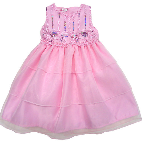 67-861T Toddler Girls' Organza   Embroidered  Dress