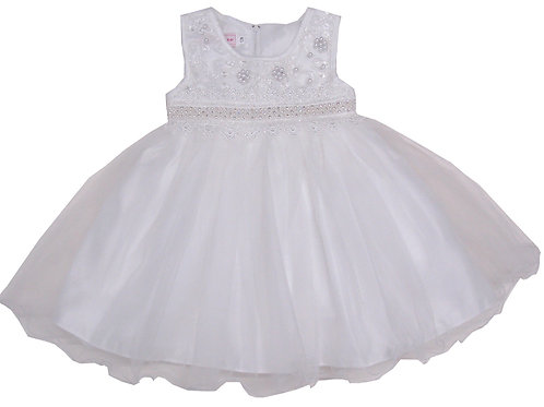 94-415T Toddler Girls' Tulle Embroidered  Dress