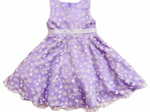 74-481X Girls' (4-6X) Organza  Embroidered  Dress