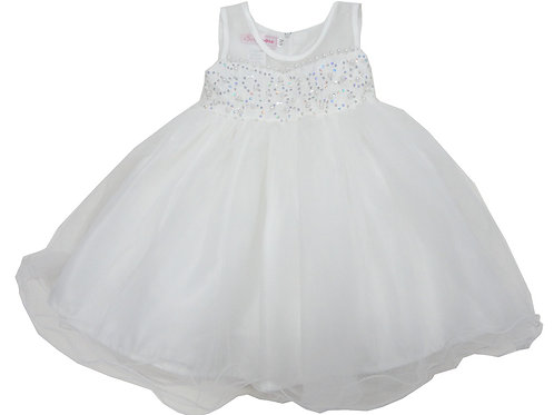 65-325T Toddler Girls' Embroidered Beaded Dress