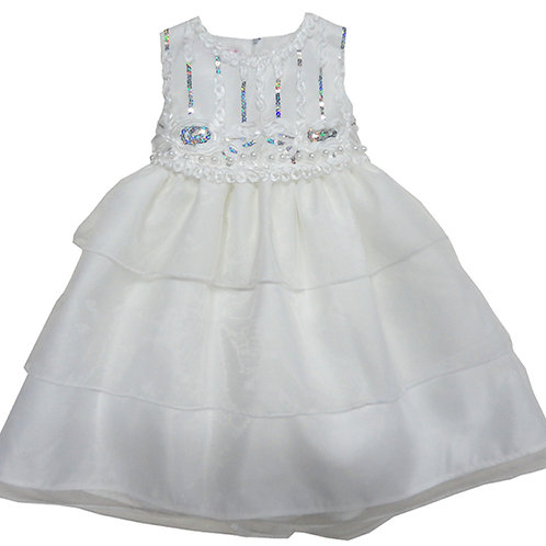 67-861 Infants'  Organza   Embroidered  Dress