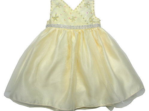 66-400 Infant Girls' Organza Embroidered Bead Dress