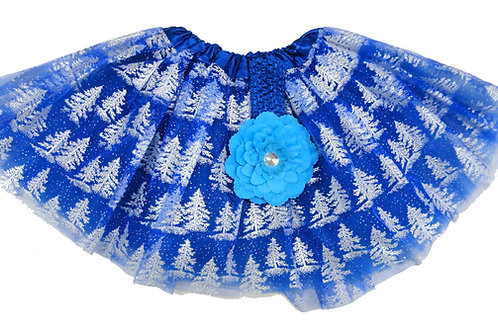 TC-316  Girls' Snow Tree Tutu with Head Band and Flower