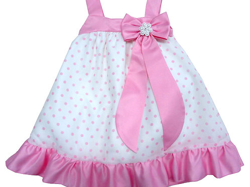 67-855X Girls' (4-6X) Organza Printed  Dress