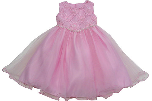 72-113T Toddler Girls' Tulle  Embroidered  Dress