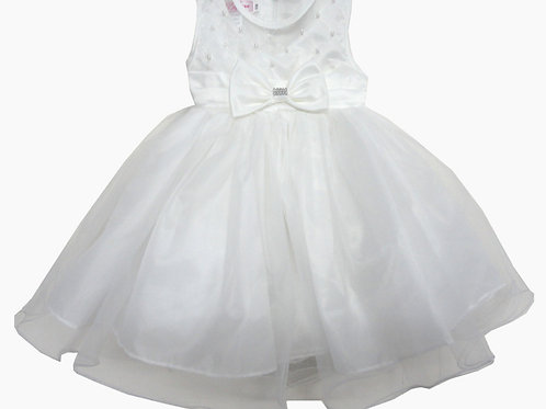 67-852X Girls' (4-6X) Tulle  Embroidered  Dress
