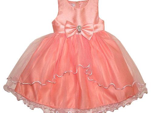 94-406T Toddler Girls' Satin Tulle  Dress