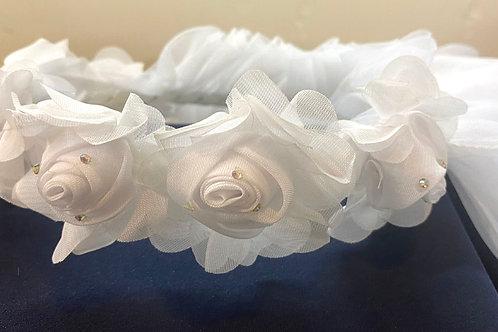 V-195  Flower Girl Veil 2 Layers Tulle Wedding Veil