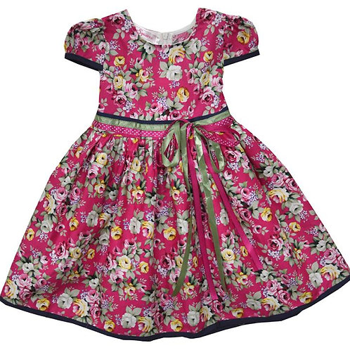 67-186 Girls'  Printed Floral Dress