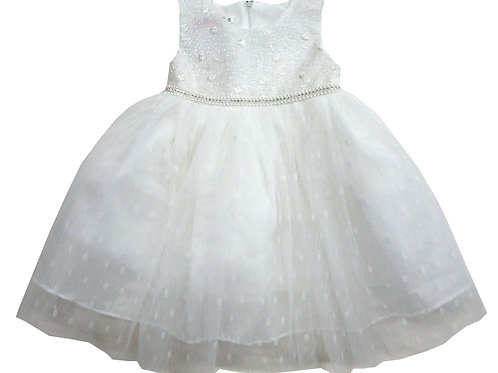 85-08L Girls' (4-14) Tulle  Embroidered  Dress