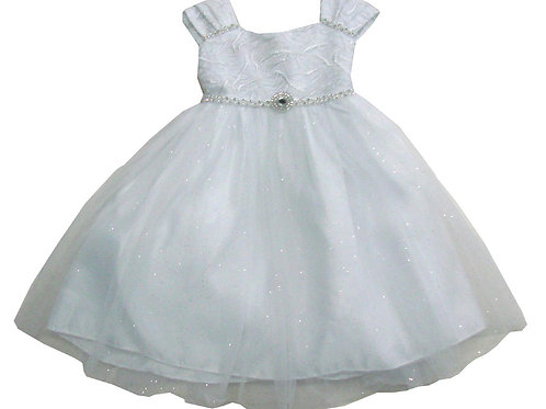 72-104T Toddler Girls' Tulle  Embroidered  Dress