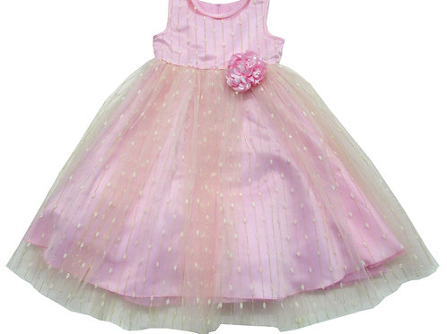 84-606 Infants' Tulle  Embroidered  Dress