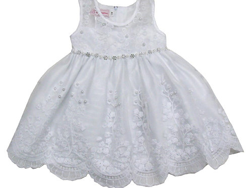 85-202X Girls' (4-6X) Tulle  Embroidered  Dress