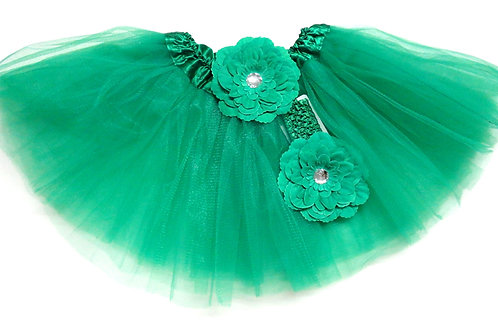 T302  Girls'  Tutu with Head Band and Flower