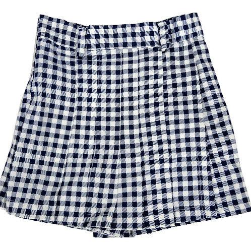 #561 Girls' Checker Skirt Shorts
