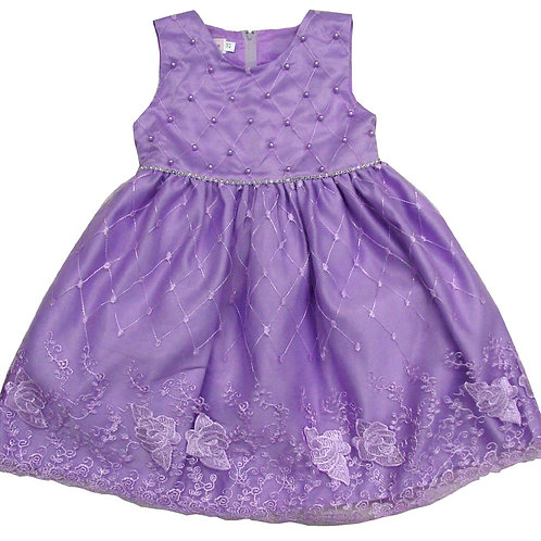 85-203 Infants' Tulle  Embroidered  Dress