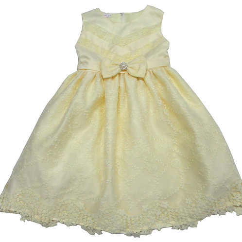 67-858T Toddler Girls' Organza   Embroidered  Dress