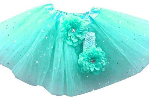 TW125BM Infant'  Star Tutu with Head Band and Flower