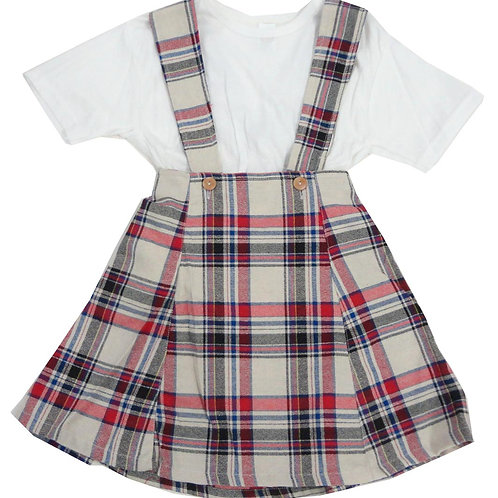 1-347  Girls' Checker Dress set