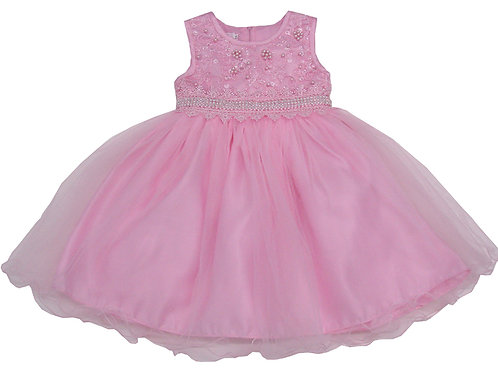 94-415 Infants' Tulle  Embroidered  Dress