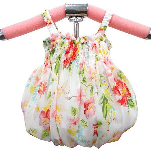 64-657 Infants' Print Floral Chiffon Dress