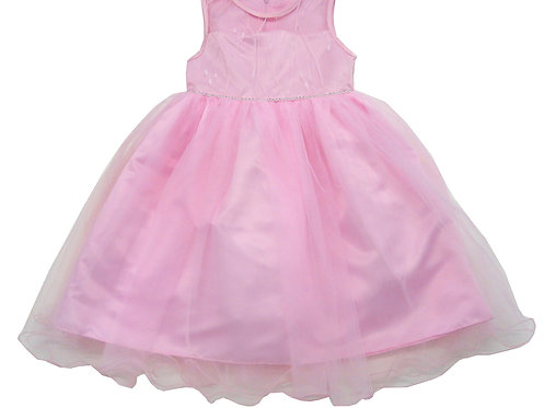 84-601X Girls' (4-6X) Tulle  Embroidered  Dress