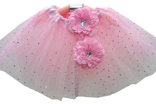 TH158PK Girls' Star Tutu with Head Band