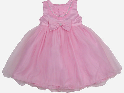 94-411X Girls' (4-6X) Tulle  Embroidered  Dress