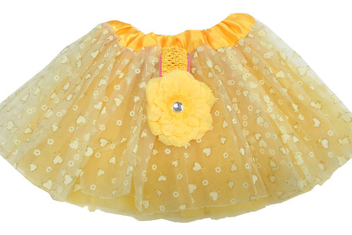 T901L  Girls' HeartTutu with Head Band and Flower