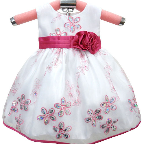 65-423T Toddlers' Embroidered Sequin Dress