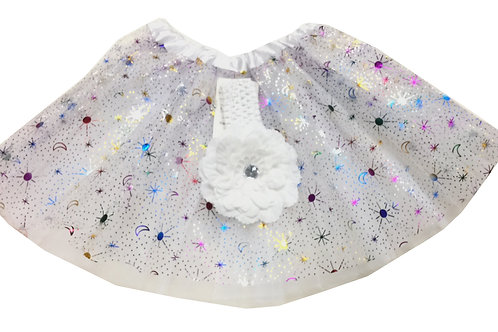 T507  Girls' Star Tutu with Head Band and Flower