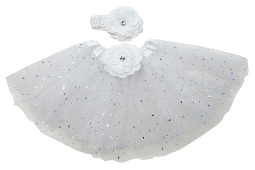 TW125W Girls' Star Tutu with Head Band