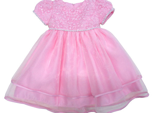 67-856 Infants'  Organza   Embroidered  Dress
