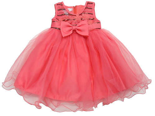 84-611T Toddler Girls' Tulle  Embroidered  Dress