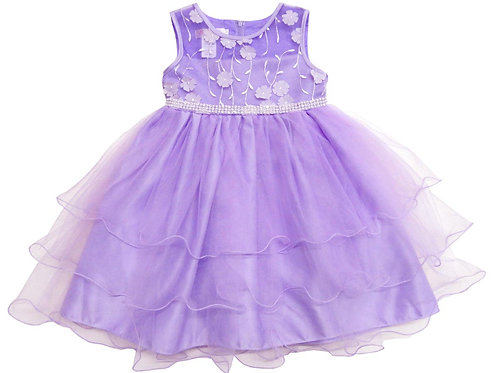 74-472X Girls' (4-6X) Tulle  Embroidered  Dress