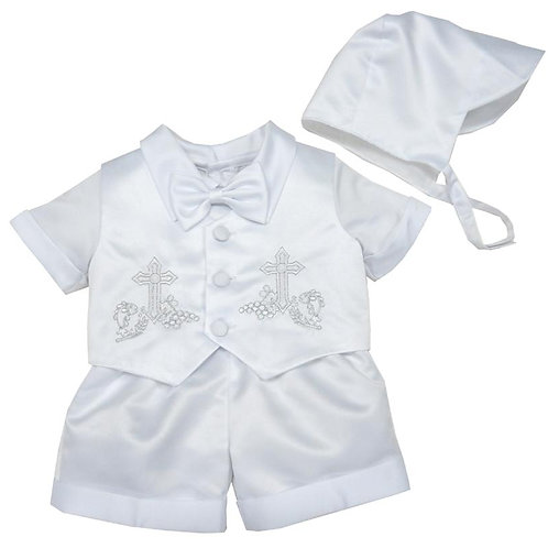 19-06T Toddler Boys' Satin Christening