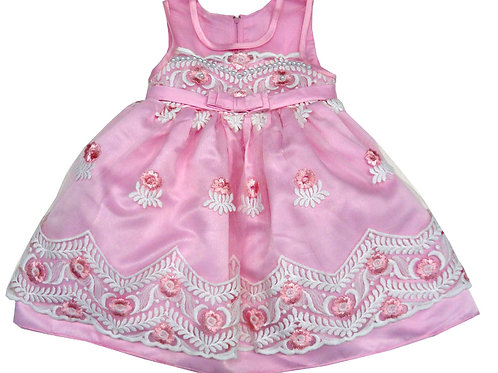 85-207T Toddler Girls' Tulle Embroidered  Dress