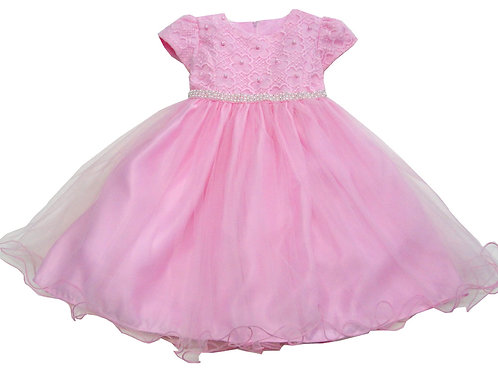 72-105T Toddler Girls' Tulle  Embroidered  Dress