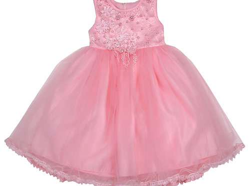 94-413 Infants' Tulle  Embroidered  Dress