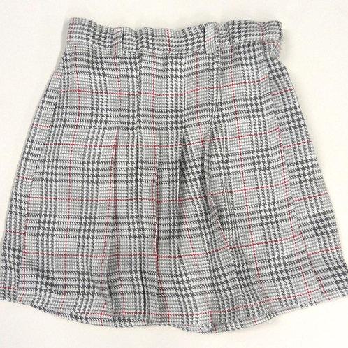#562 Girls' Checker Skirt Shorts