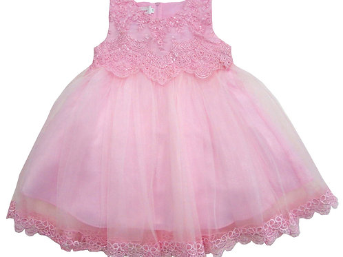 84-604 Infants' Organza  Embroidered  Dress