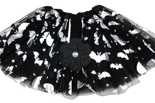 HT-159L  Girls' Bat Tutu with Head Band and Flower